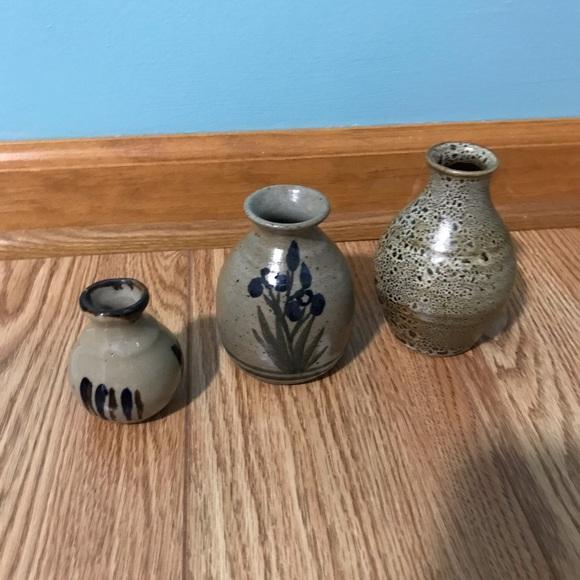 Set of 3 Pottery Jars